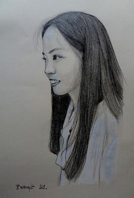 portrait d'enfant au crayon graphite